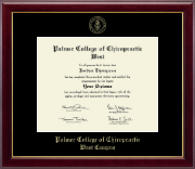 Palmer College of Chiropractic West Campus Diploma Frame - Gold Embossed Diploma Frame in Gallery