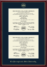 Pennsylvania State University Diploma Frame - Double Diploma Frame in Galleria