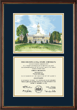 Pennsylvania State University Diploma Frame - Litho Diploma Frame in Williamsburg