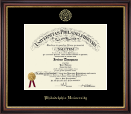 Philadelphia University Diploma Frame - Gold Embossed Diploma Frame in Regency Gold