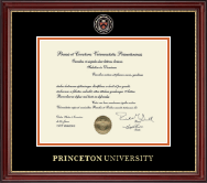 Princeton University Diploma Frame - Masterpiece Medallion Diploma Frame in Kensington Gold