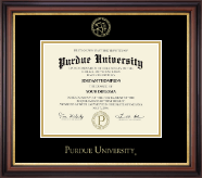 Purdue University Diploma Frame - Gold Embossed Diploma Frame in Regency Gold