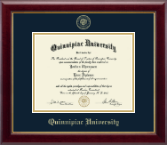 Quinnipiac University Diploma Frame - Gold Embossed Diploma Frame in Gallery