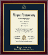 Regent University Diploma Frame - Gold Embossed Diploma Frame in Gallery