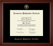 Rensselaer Polytechnic Institute Diploma Frame - Gold Embossed Diploma Frame in Cambridge
