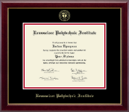 Rensselaer Polytechnic Institute Diploma Frame - Gold Embossed Diploma Frame in Gallery