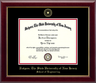 Rutgers University Diploma Frame - Gold Embossed Diploma Frame in Gallery