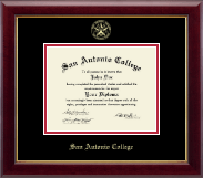 San Antonio College Diploma Frame - Gold Embossed Diploma Frame in Gallery