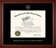 Supreme Court of the United States Certificate Frame - Gold Embossed Edition Certificate Frame in Cambridge