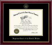 Supreme Court of the United States Certificate Frame - Gold Embossed Edition Certificate Frame in Gallery