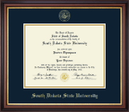 South Dakota State University Diploma Frame - Gold Embossed Diploma Frame in Regency Gold