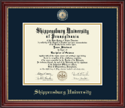 Shippensburg University Diploma Frame - Masterpiece Medallion Diploma Frame in Kensington Gold