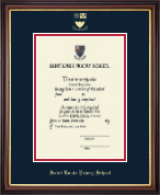 Saint Louis Priory School Diploma Frame - Embossed Diploma Frame in Regency Gold