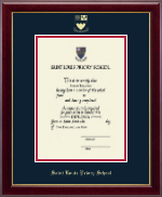 Saint Louis Priory School Diploma Frame - Embossed Diploma Frame in Gallery