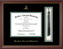 Southern Adventist University Diploma Frame - Tassel Diploma Frame in Newport