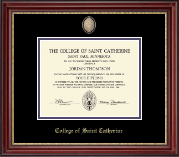 College of St. Catherine Diploma Frame - Masterpiece Medallion Diploma Frame in Kensington Gold