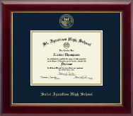 Saint Ignatius High School Diploma Frame - Gold Embossed Diploma Frame in Gallery