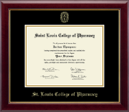 Saint Louis College of Pharmacy Diploma Frame - Gold Embossed Diploma Frame in Gallery