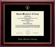 Saint Michael's College Diploma Frame - Gold Embossed Diploma Frame in Gallery