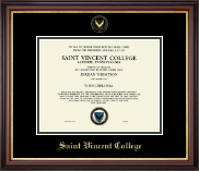 Saint Vincent College Diploma Frame - Gold Embossed Diploma Frame in Regency Gold