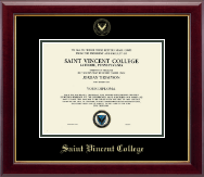 Saint Vincent College Diploma Frame - Gold Embossed Diploma Frame in Gallery