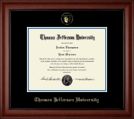Thomas Jefferson University Diploma Frame - Gold Embossed Seal Diploma Frame in Cambridge