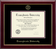 Transylvania University Diploma Frame - Gold Embossed Diploma Frame in Gallery