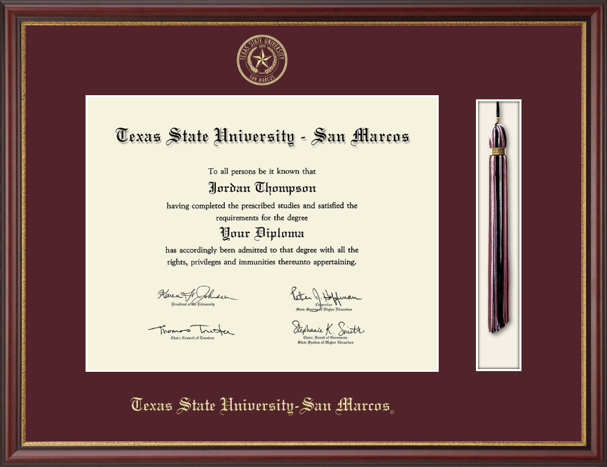 Texas State University San Marcos Tassel Edition Diploma Frame in ...