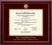 Texas A&M University Diploma Frame - 23K Medallion Diploma Frame in Gallery