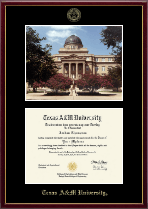 Texas A&M University Diploma Frame - Campus Scene Diploma Frame in Galleria