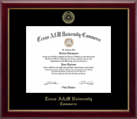 Texas A&M University - Commerce Diploma Frame - Gold Embossed Diploma Frame in Gallery