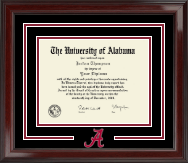 The University of Alabama Tuscaloosa Diploma Frame - Spirit Logo Diploma Frame in Encore