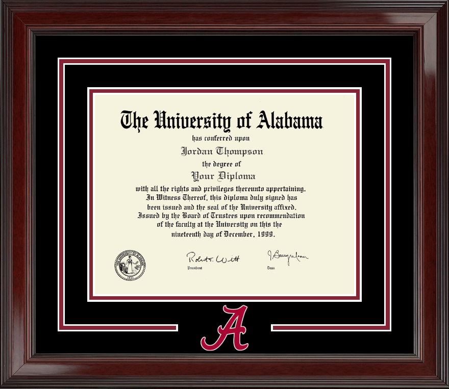 The University Of Alabama Tuscaloosa Spirit Logo Diploma