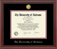 The University of Alabama Tuscaloosa Diploma Frame - 23K Medallion Diploma Frame in Signature