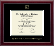The University of Alabama at Birmingham Diploma Frame - Gold Embossed Diploma Frame in Gallery