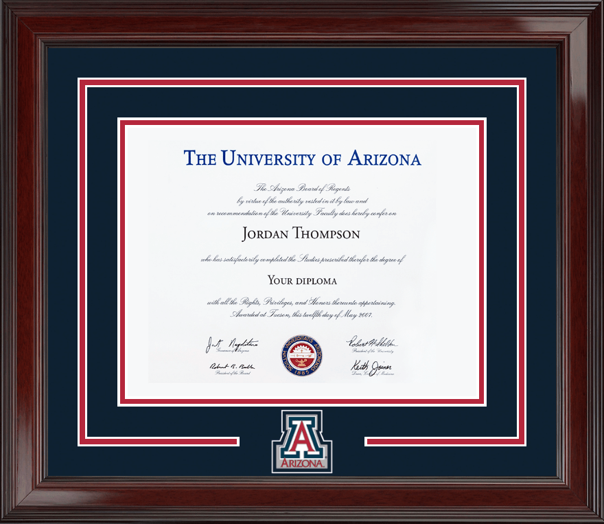 the university of arizona diploma frame spirit medallion diploma frame in encore