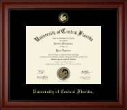 University of Central Florida Diploma Frame - Gold Embossed Diploma Frame in Cambridge