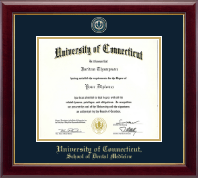University of Connecticut School of Dental Medicine Diploma Frame - Masterpiece Medallion Diploma Frame in Gallery