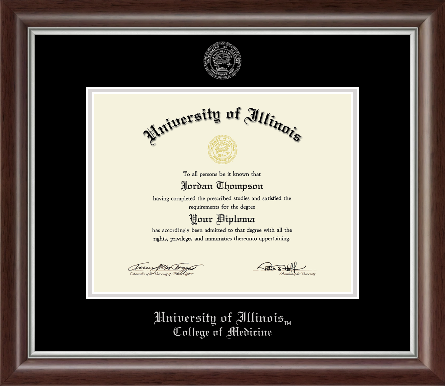 University of Illinois Silver Embossed Diploma Frame in Devonshire ...