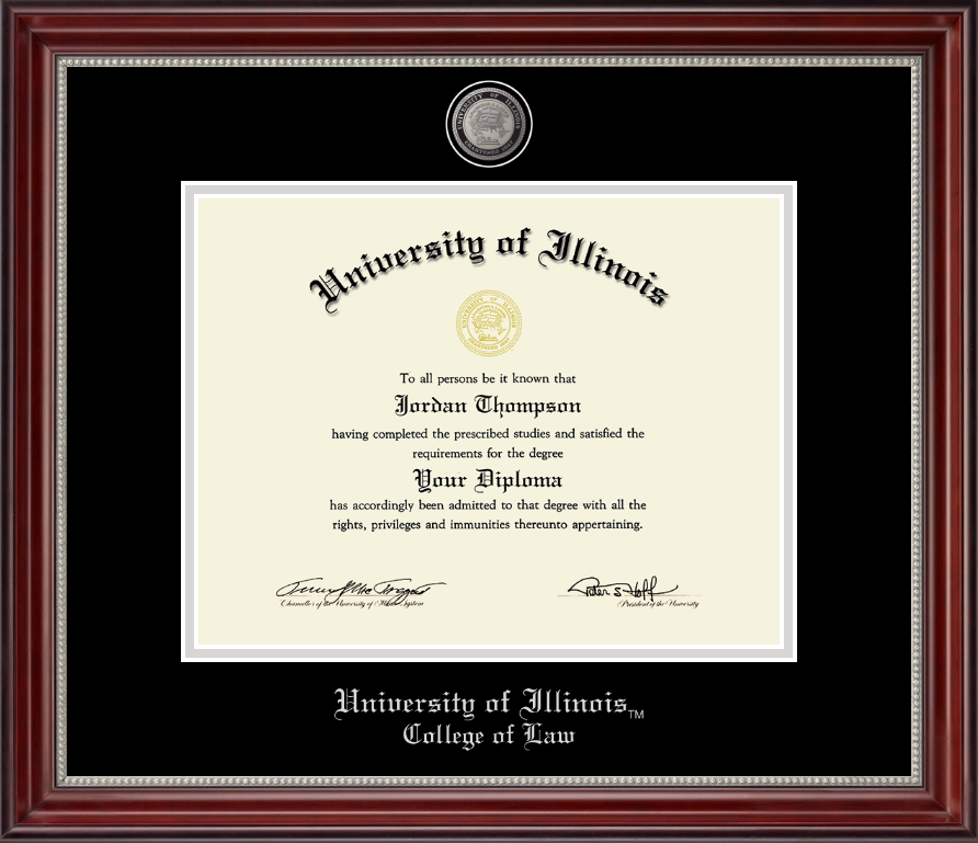 University of Illinois Pewter Medallion Diploma Frame in Kensington ...