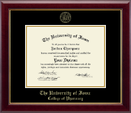 The University of Iowa Diploma Frame - Gold Embossed Diploma Frame in Gallery