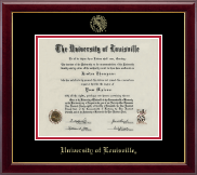 University of Louisville Diploma Frame - Gold Embossed Diploma Frame in Gallery