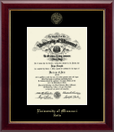 University of Missouri at Rolla Diploma Frame - Gold Embossed Diploma Frame in Gallery