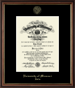 University of Missouri at Rolla Diploma Frame - Gold Embossed Diploma Frame in Williamsburg