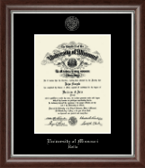 University of Missouri at Rolla Diploma Frame - Silver Embossed Diploma Frame in Devonshire