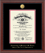 University of Missouri Saint Louis Diploma Frame - 23K Medallion Diploma Frame in Signature
