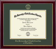 The University of North Carolina at Charlotte Diploma Frame - Gold Embossed Diploma Frame in Gallery