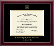 University of North Carolina at Pembroke Diploma Frame - Gold Embossed Diploma Frame in Gallery