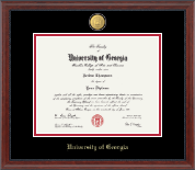 The University of Georgia Diploma Frame - 23K Medallion Diploma Frame in Signature