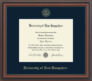 University of New Hampshire Diploma Frame - Gold Embossed Diploma Frame in Regency